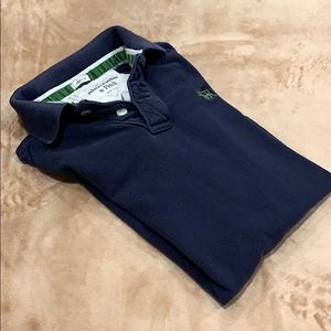 Abercrombie and Fitch Navy Blue Muscle Polo